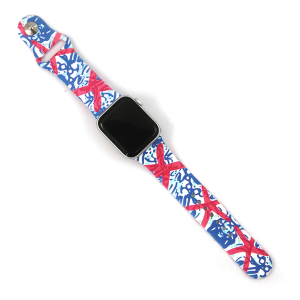Watch Band 140c 08 Silicon Rubber Tropical Starfish Blue 38mm 40mm