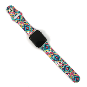 Watch Band 149b 08 Silicon Rubber paisley multi 38mm 40mm