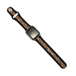 Watch Band 099e 08 stripe black leopard 38mm 40mm