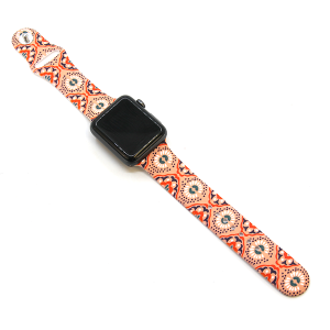 Watch Band 008d 08 Rubber Silicone Watch Band geometric kaleidoscope pink