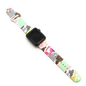 Watch Band 095a 08 Rubber Silicone Watch Band multicolor patterns