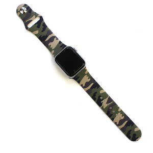 Watch Band 150a 08 Rubber Watch Band 38mm 40mm camo