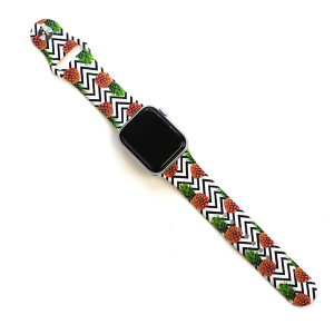 Watch Band 097b 08 Rubber Watch Band 38mm 40mm pineapple
