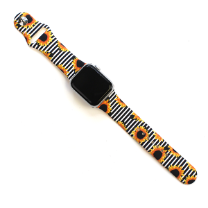 Watch Band 119f 08 Rubber Watch Band 38mm 40mm sunflower stripes