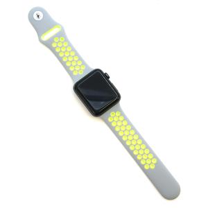 Watch Band 013b Loop Sport watch band 42mm 44mm gray yellow