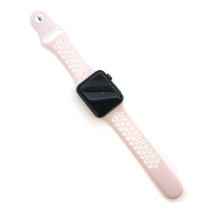 Watch Band 036a Loop Sport watch band 42mm 44mm pink white
