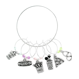 wine charm 011L 20 food multi silver