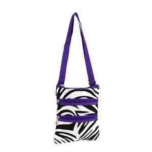 yh 003 163 messenger bag zebra dark purple