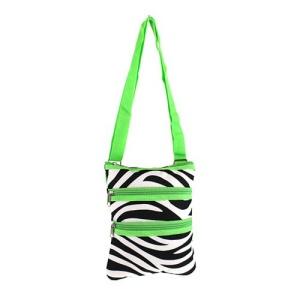 yh 003 163 messenger bag zebra green