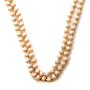 Necklace 516a 77 Pomina 30 60 inch bead necklace nude