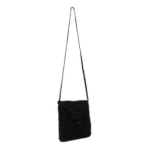ys p 933s straw flap bag black