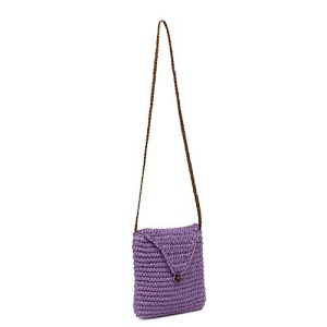 ys p 933s straw flap bag lavender