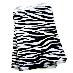 display 11X8.5 jewelry paper bag 100pc zebra