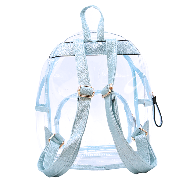 Wholesale Clear See-Through Fashion Backpack in Sky Blue - SWTrading 7207aab61e6be