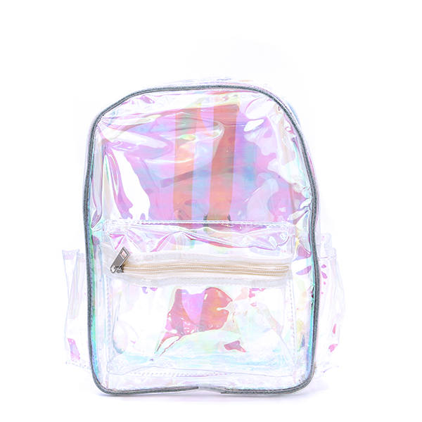 Backpack UBP-7970A Iridescent Transparent Clear Yellow - SWTrading f44885c5364bf